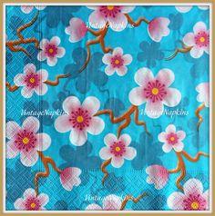 PAPER napkins for DECOUPAGE - Cherry BLOSSOM
