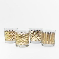 Metallic Print Glassware Set - These would look good with my china!