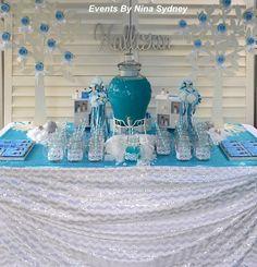 Frozen Princess themed birthday party Full of Really Cute Ideas via Kara's Party Ideas! full of decorating ideas, dessert, cake, cupcakes, f...