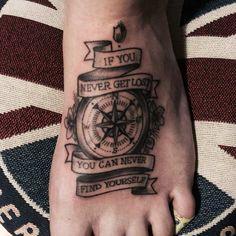 Compas Tattoo on Foot