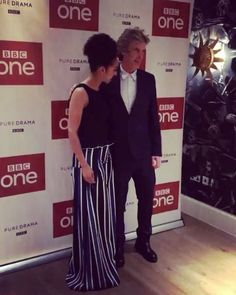 """""""He's amazing – a very generous actor. He always makes sure we rehearse things fully and double-checks that everything is all right for me. He's really enthusiastic too."""" Pearl Mackie on working with Peter. ("""