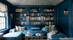 Deep Blue Den - I would love for this to be my office/work room