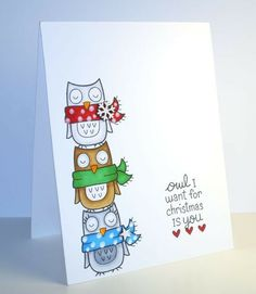 Owl I Want for Christmas is You by jennysbugbites - Cards and Paper Crafts at Splitcoaststampers