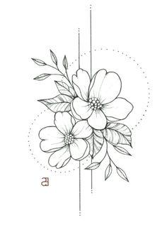 Fleurs de mai - David et Leanna - 736 x 1042 Sinon devise  Flower Tattoo Designs, Flower Tattoos, Small Tattoos, Family Tattoos, Couple Tattoos, Guy Tattoos, Tattoos Skull, Dragon Tattoos, Tatoos