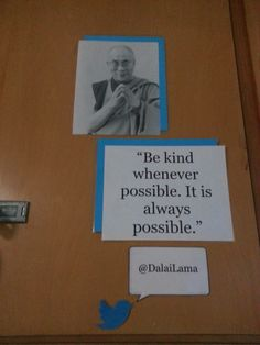 Middle School Classroom Locker Decoration: Inspirational People with Quote Dalai Lama (Technology Twitter Theme)