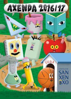 Axenda escolar para o Concello de Sanxenxo. School Diary for Sanxenxo Council.