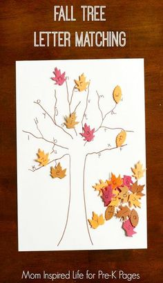 Seasonal Activity of the Week: Fall Tree Letter Matching-pinned by @PediaStaff – Please Visit  ht.ly/63sNt for all our pediatric therapy pins
