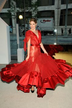 Red Gown / zac posen