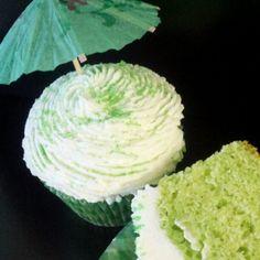 MARGARITA CUPCAKE!!! VANILLA CAKE, MARGARITA LIME FROSTING, TOPPED WITH A SWEET & SALTY LIME MARGARITA COCKTAIL SALT!!!!