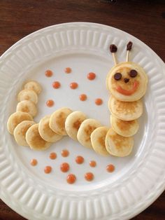 Toddler Snacks Healthy Snacks For Kids Finger Foods For Kids Pancake Art Childrens Meals Summer Snacks Food Themes Food Art For Kids Cooking With Kids Cute Food, Good Food, Yummy Food, Toddler Meals, Kids Meals, Food Art For Kids, Art Kids, Food Carving, Food Decoration
