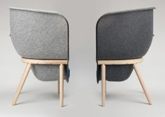 the oversized pod chair - acoustic solution to open plan office environments. Good for 1 on 1 meetings etc