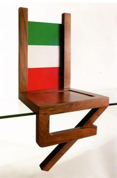 Armando Testa, Sedia antropomorfa, 1976 Italian Art, Art Director, Floor Chair, Industrial Design, Mixed Media, Italy, Illustrations, 3d, Interior