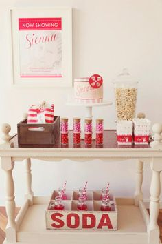 GIRL/BOY PARTIES: THE MOVIE PARTY by Sweet Style - Pink Peppermint Design