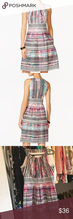 Nine West Multi Colored Midi Dress Size 8 Beautiful Nine West Multi Colored Midi Dress Size 8! Worn 1 time. Nine West Dresses Midi