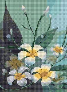 Free cross stitch chart flowers Beaded Cross Stitch, Modern Cross Stitch, Cross Stitch Flowers, Cross Stitch Designs, Cross Stitch Embroidery, Cross Stitch Patterns, Cross Stitch Calculator, Free Cross Stitch Charts, Cross Stitch Freebies