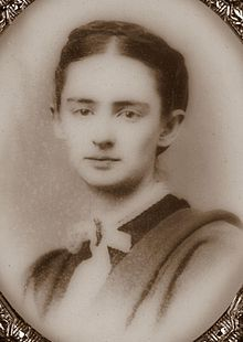 Mrs. Mark Twain - Olivia Langdon Clemens, 1869.