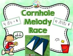My students and I are having a blast with this Cornhole Melody Race game for our last day in music. I have the official cornhole board but you could use a bean bag and a bucket. 20% for the week!