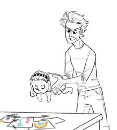 """""""Beth, you can't be in d- *eugh* -addy's workshop, it's dangerous down here. Go draw in the kitchen"""" bonus:"""