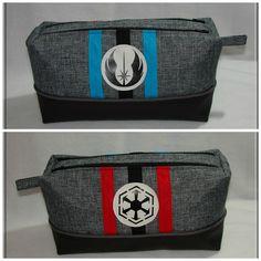 Trousse Zip-Zip Star Wars - une face Jedi et une face Sith - cousue par Tiana - Patron trousse double Sacôtin