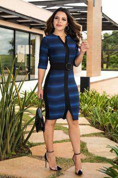1c1efb130 Vestido Malha com Recortes em Alfaiataria Luciana Pais 92409