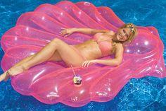 Seashell Pool Raft | Inflatable SeaShell Pool Float | Pool Rafts - ToySplash.com ($20-50) - Svpply