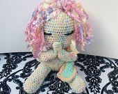 Little Girl Doll with Praying Hands, Crocheted dolls, stuffed doll, crochet stuffed animals, Easter gift, amigurumi, cool gift