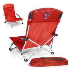 The Boston Red Sox Tranquility Chair by Picnic Time is a great MLB tailgating and Beach Chair