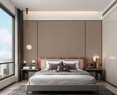 Bedroom Bed Design, Modern Bedroom Design, Home Bedroom, Corner Sofa Design, Master Room, Bed Wall, Suites, Living Room Inspiration, Apartment Design