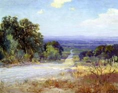 A White Road at Late Afternoon, 1921 by Robert Julian Onderdonk. Impressionism. landscape