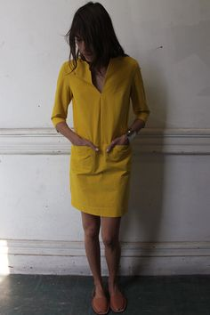 yellow tunic dress.