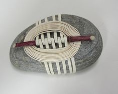 Check out our zen stone selection for the very best in unique or custom, handmade pieces from our meditation shops. String Crafts, Rock Crafts, Arts And Crafts, Crochet Stone, Rock Sculpture, Stone Wrapping, Outdoor Crafts, Weaving Textiles, Rocks And Gems