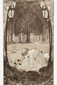 (Johann) Heinrich Vogeler (1872-1942) - Die sieben Schwäne (The Seven Swans)