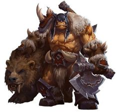 View an image titled 'Rexxar Art' in our Heroes of the Storm art gallery featuring official character designs, concept art, and promo pictures. World Of Warcraft Game, World Of Warcraft Characters, Fantasy Characters, Dota Warcraft, Warcraft Art, Heroes Of The Storm, Fantasy Character Design, Character Art, Karl Kopinski
