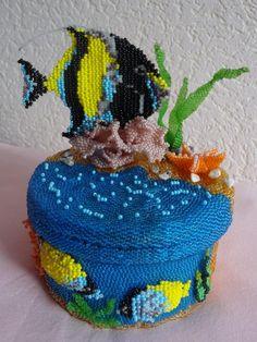 """Шкатулка """"Царство Нептуна""""   biser.info - всё о бисере и бисерном творчестве"""
