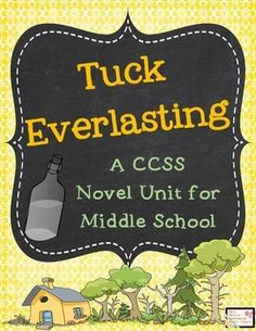 Tuck Everlasting is a timeless novel that everyone should read at least once. This is the perfect unit for your middle school students to enhance their work and understanding of the novel. This 40-page unit includes: -18 pages of reader response questions -5 pages of context clue word work -character analysis work -figurative language work -post-reading reflection journals -a character map -a table of contents to keep track of all materials -answer key