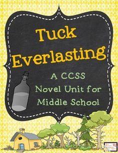 Tuck Everlasting Novel Unit for Middle School