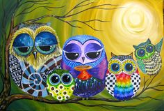 Znalezione obrazy dla zapytania pop art girl the art sherpa Art Pop, The Art Sherpa, Owl Wallpaper, Family Painting, Owl Family, Owl Art, Animal Paintings, Acrylic Paintings, Painting & Drawing