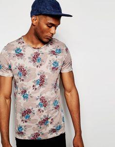 Imagen 1 de Camiseta con estampado floral en toda la prenda de United Colors Of Benetton