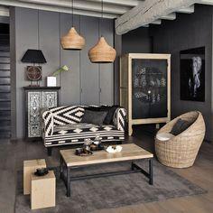 Geometrische Muster können ein Möbelstück ganz neu aussehen lassen. Ein super Beispiel!