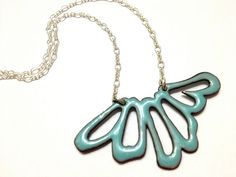 Lichen Flower Necklace in Enamel by Amanda DelaCruz, via Flickr