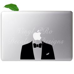 Suit and Tie Tuxedo Dress Fashion Night Out Sharp Dressed Decal for Macbook