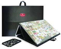 Jigsaw AccessoriesPortapuzzle Pro-(68 x 49) Mulifunctional puzzle board complete with inserts for sorting pieces-The puzzle mat can be lifted out and the exterior folded over to create  a tilted suface for  an easy solution to puzzling.