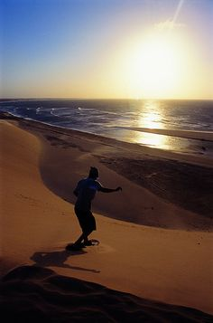 Sandboarding in Jericoacoara, Ceará We need to ask my step dad to bring the board for that.