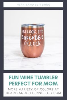 A stainless steel wine tumbler perfect for any wine lover that wants to sip all day! This tumbler will keep any drink cool through the long days and remind you that it's always time for wine. Wine Mom Humor - Wine Time Tumbler - Wine Gifts - Custom Wine Tumblers - Stainless Steel Wine Tumbler - Mama Needs Wine