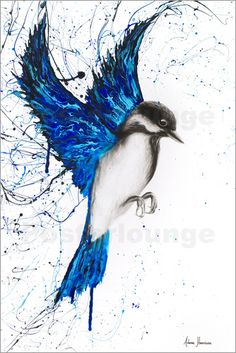 Original Art by International Selling Artist Ashvin Harrison. Buy Unique Realism, Expressionism, Abstract Canvas Art, Shipped To Your Door. Bird Paintings On Canvas, Bird Painting Acrylic, Abstract Canvas Art, Animal Paintings, Artist Painting, Watercolor Art, Canvas Painting Nature, Abstract Animal Art, Blue Painting
