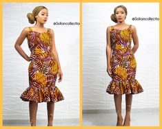 Ankara Gown with short flare Ankara Short Gown, Short Gowns, Aso Ebi, Flare, Luxury, Fabric, How To Wear, Inspiration, Beautiful
