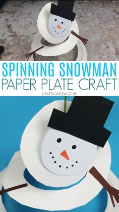 Make a fun paper plate snowman that spins and find out about Asthma UKs Letters To Santa campaign. A cute and easy Christmas craft for kids! Christmas Art For Kids, Christmas Arts And Crafts, Holiday Crafts For Kids, Preschool Christmas, Xmas Crafts, Paperplate Christmas Crafts, Classroom Crafts, Preschool Crafts, Snowman Crafts For Preschoolers