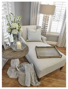 Cozy Living Rooms, Home Living Room, Living Room Designs, Decorating Living Rooms, Living Room Side Tables, Rustic Living Room Decor, Chairs For Living Room, Romantic Living Room, Side Table Decor