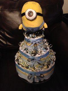 Minion diaper cake