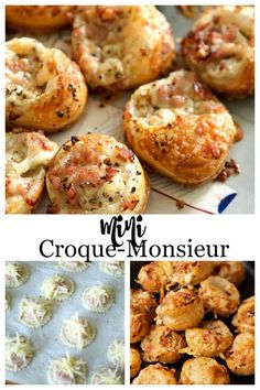 French Appetizers, Puff Pastry Appetizers, Puff Pastry Recipes, Finger Food Appetizers, Appetizers For Party, Finger Foods, Appetizer Recipes, Individual Appetizers, Breakfast Appetizers